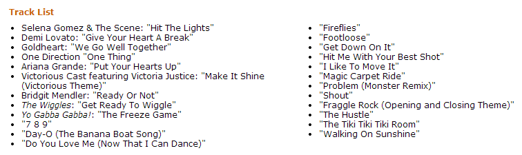 Moving pictures song list