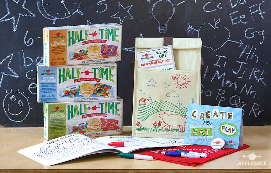 Applegate's HALF TIME Lunch Kits Giveaway - Crunchy Beach Mama