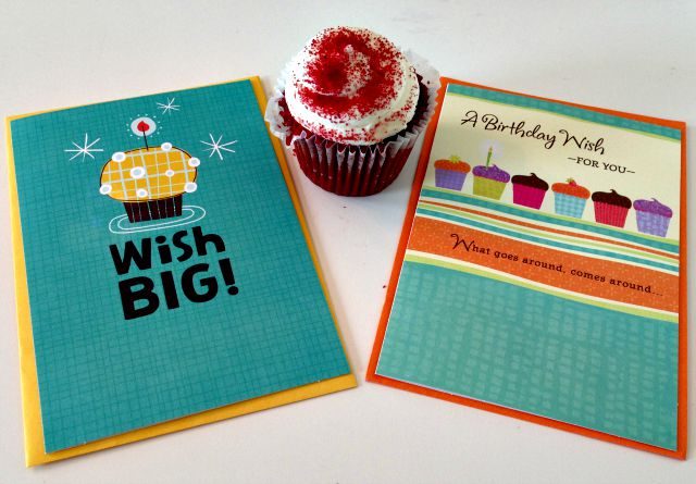 Hallmark 47 Cents Cards and Cupcake
