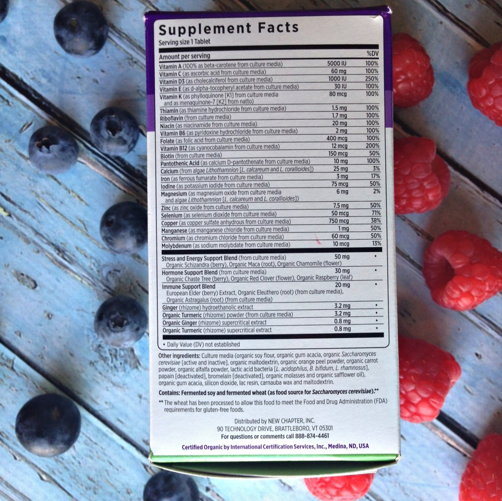 Eating Clean for 30 Days - New Chapter Vitamins Label