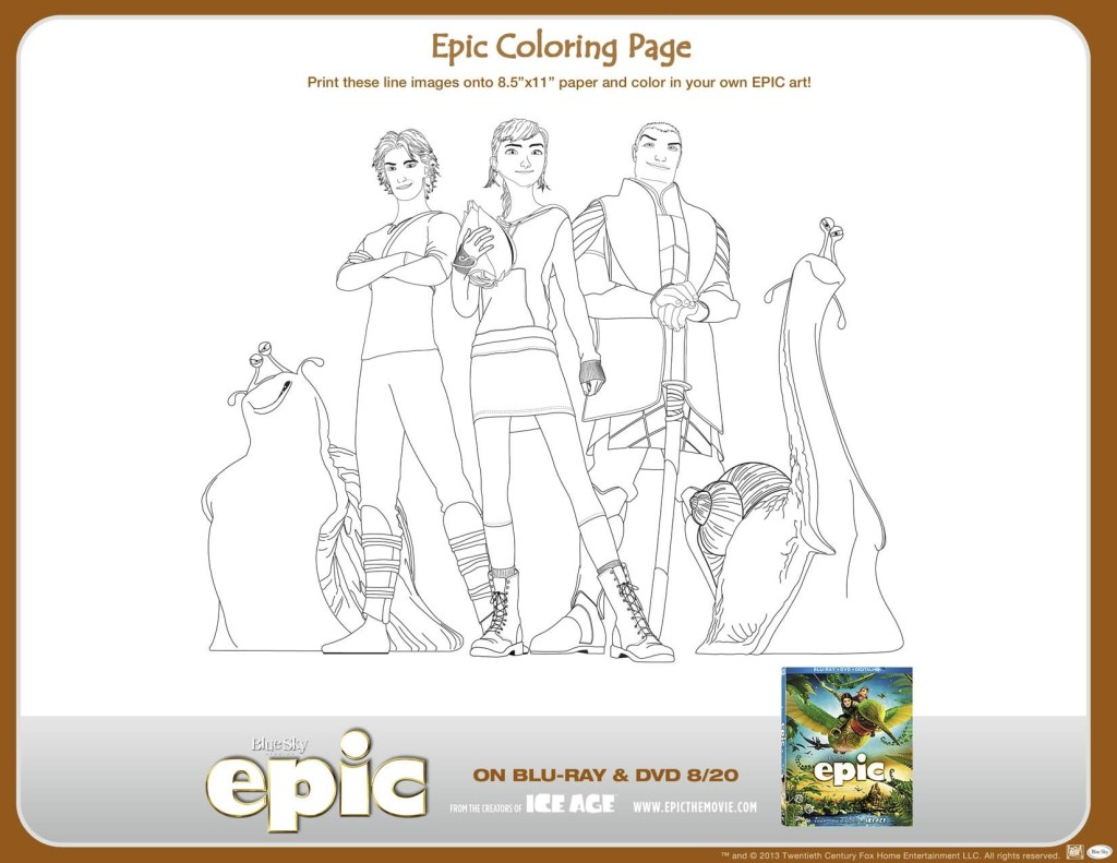 Epic Movie Printables  Epic Coloring Page