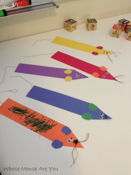 Preschool Story and Craft Ideas Whose Mouse Are You