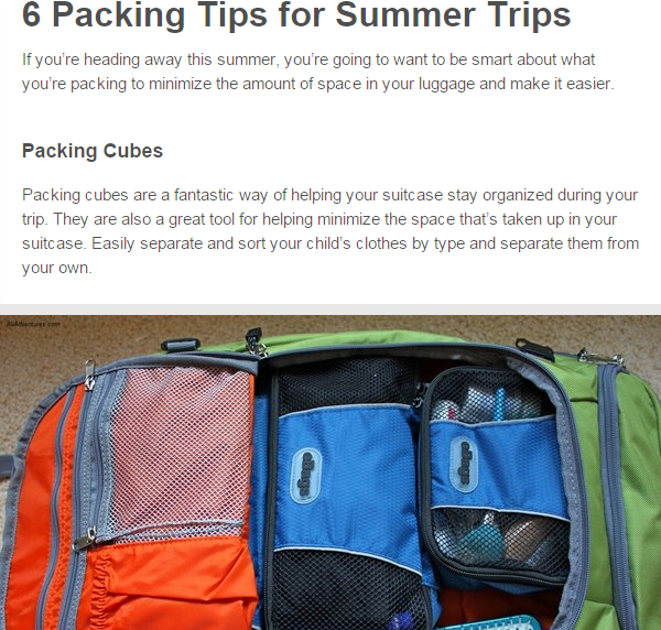 Just one of the many articles relating to summer you will find!