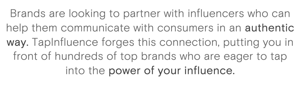 Power of influence at Tapinfluence