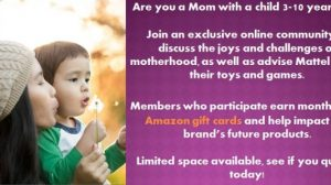 Mattel Looking for Moms and Pays Amazon