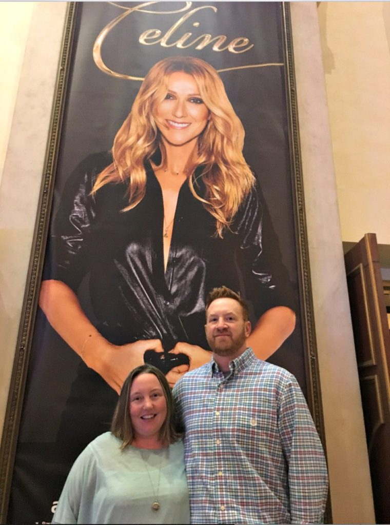 First Time in Las Vegas Celine Dion